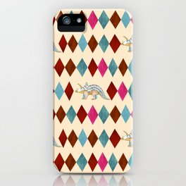 Harlequin Dino iPhone Case