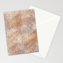 Cavern Clay SW 7701 and Abstract Distressed Chaotic Sponge Paint Pattern 2 Stationery Cards