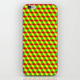 Cubed - Rasta iPhone Skin