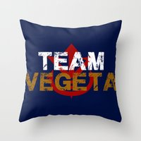 vegeta Throw Pillows featuring Team Vegeta by AJF89