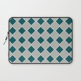 Benjamin Moore Metropolitan Light Gray, Beau Green, Ornamental Moroccan Tile Pattern Snowfall White Laptop Sleeve