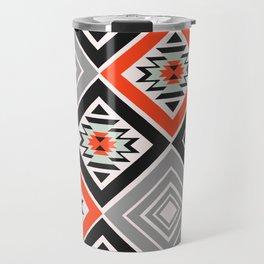 Aztec geometry with diamonds Travel Mug