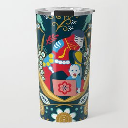 Technological folk art Travel Mug