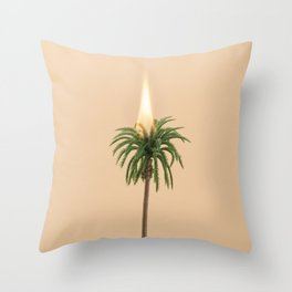 Bushfire emergency Throw Pillow