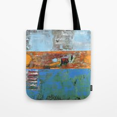 Alligator Blue Orange Modern Abstract Contemporary Art Tote Bag