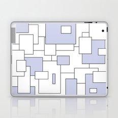 Squares - blue and white. Laptop & iPad Skin