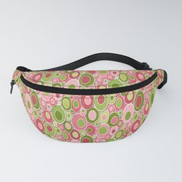 Mid Century Modern Ovals - Fuchsia Pink and Chartreuse Fanny Pack