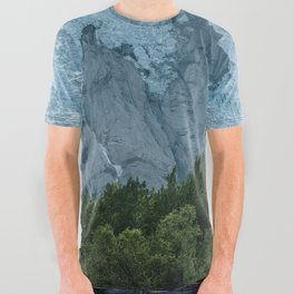 Mystic forest with Glacier in the Background All Over Graphic Tee