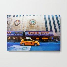 NYC Radio City Metal Print