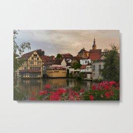 Bavaria Germany Bamberg Houses Cities Building Metal Print