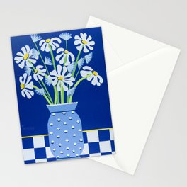 Daises In Hobnail Glass Stationery Cards