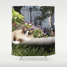 Sunning in Wright Square Shower Curtain