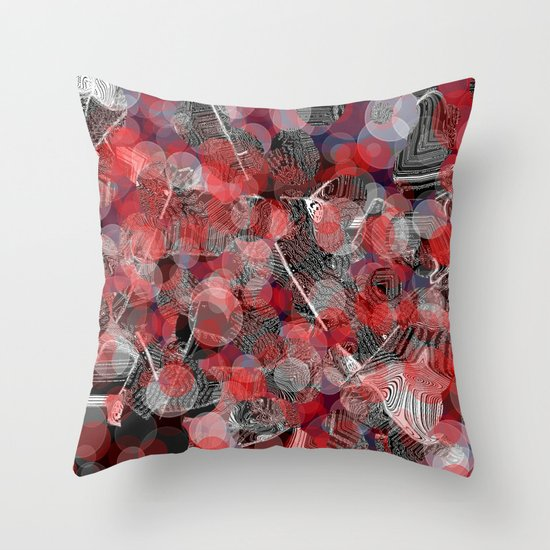 Bokeh red dots Throw Pillow