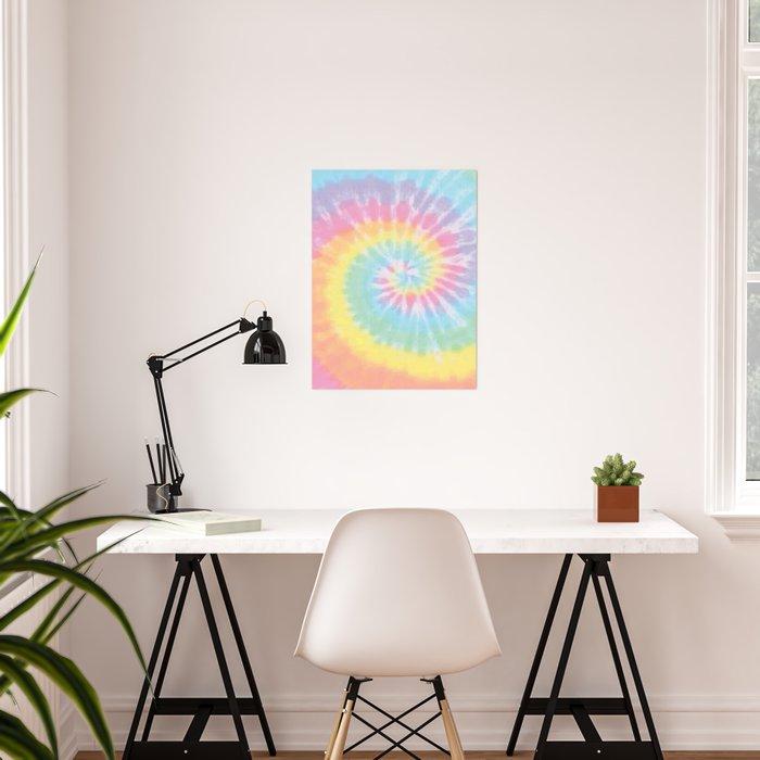 Pastel Tie Dye Poster