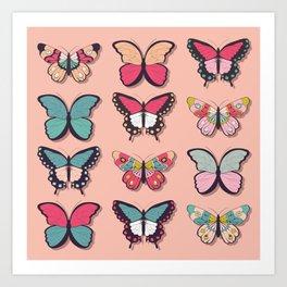 Butterflies collection 03 Art Print