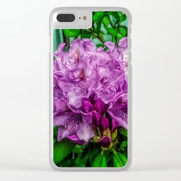 Fine Wine Cafe Light Purple Rhododendron Clear iPhone Case