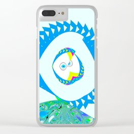 Wink of the eye Clear iPhone Case