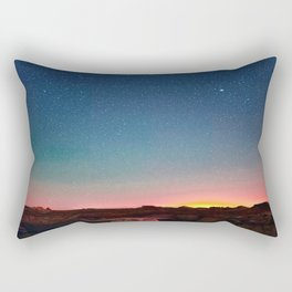 Bisti Badlands Hoodoos Under New Mexico Stary Night Rectangular Pillow