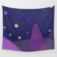 cabin Wall Tapestries featuring Cabin Fever by Olivia James