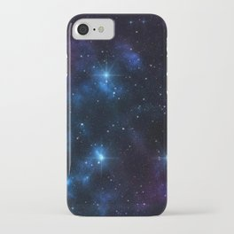 Galaxy sky space of planet earth with stars and meteors graphic design.  iPhone Case