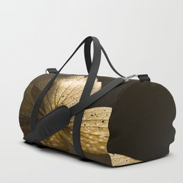 Autumn Scene - Dry Petals with Golden Sunset Light #decor #society6 #buyart Duffle Bag