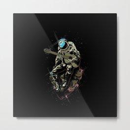 Guitar Astronaut Metal Print