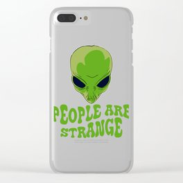 Be strange even in the outer space with this unique and creepy tee design! Makes a nice gift too!  Clear iPhone Case