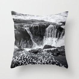 Thor's Well, No. 3 bw Throw Pillow