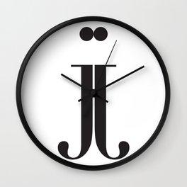 "Mirrored - The Didot ""j"" Project Wall Clock"