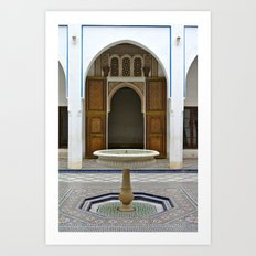 Courtyard at Bahia Palace Art Print