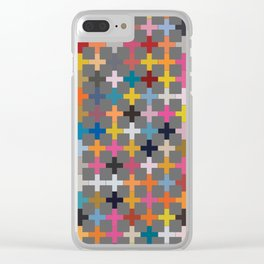 Glaze to Grey Clear iPhone Case