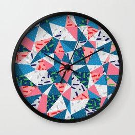 Memphis_patchwork Wall Clock