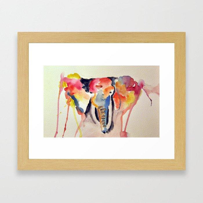 Sick of Elephants Framed Art Print