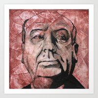 hitchcock Art Prints featuring Hitchcock by Colunga-Art