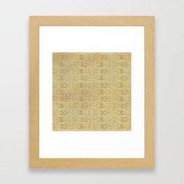 Golden Celtic Pattern on canvas texture Framed Art Print