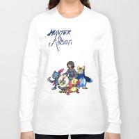 allison argent Long Sleeve T-shirts featuring PokeWolf: Allison Argent by Trickwolves