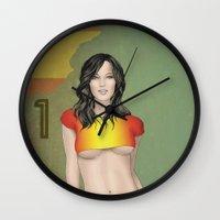 spain Wall Clocks featuring Spain by Kingdom Of Calm - Print On Demand
