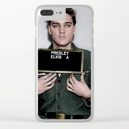 Army Elvis Clear iPhone Case