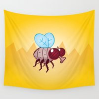larry Wall Tapestries featuring Larry the Fly by LAckas
