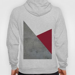 Concrete Burgundy Red White Hoody