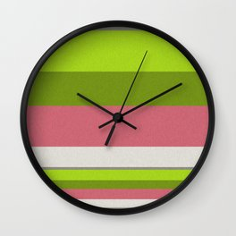 Horizontal stripes 3 Wall Clock