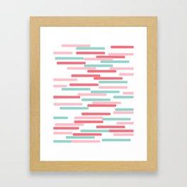 Karena - abstract minimal trendy pattern palette lines dash grid urban affordable dorm college decor Framed Art Print