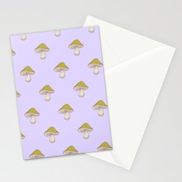 Capped Fellow pattern in lilac Stationery Cards