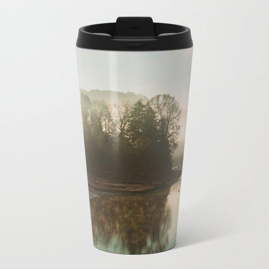 Calm Lake Metal Travel Mug