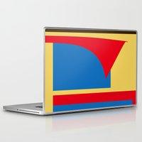 superhero Laptop & iPad Skins featuring Superhero Abstract by StevenARTify