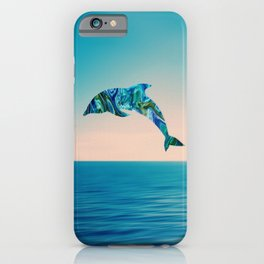 Marble Animals - Dolphin iPhone Case