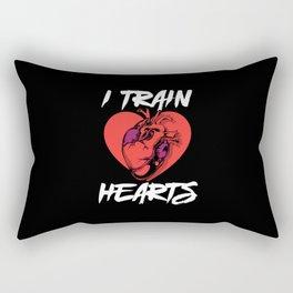 Heart - Cardiac Rehab Therapist - Cardiac Nurse Rectangular Pillow