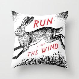Run Like The Wind Throw Pillow