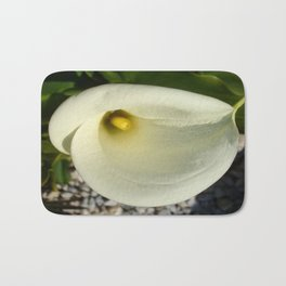 Overhead Shot of A Cream Calla Lily In Soft Focus Bath Mat