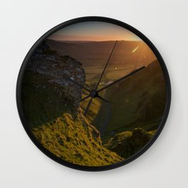 winnats pass sunrise Wall Clock